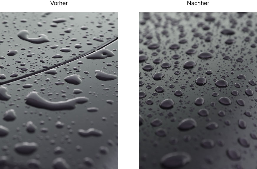 Nanoversiegelung / Wassertropfen / Lack Versiegelung / Pflege
